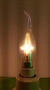TIPKAARS LED LAMP VOOR KROONLUCHTER helder glas