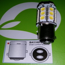 Bajonett LED-Lampe BAY15D Bajonettverschluss.