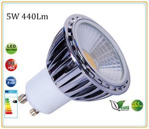 GU10-COB-230 dimbare led lamp. 6 stuks