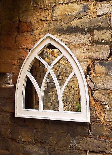 Zaltii gotische spiegel London 61 wit