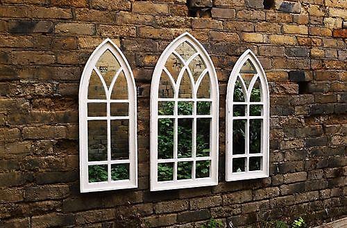 Zaltii gotische spiegel London 120 wit
