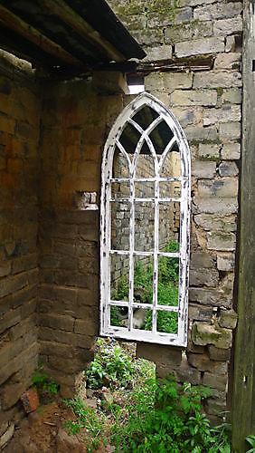 Zaltii gotische spiegel London 151 wit