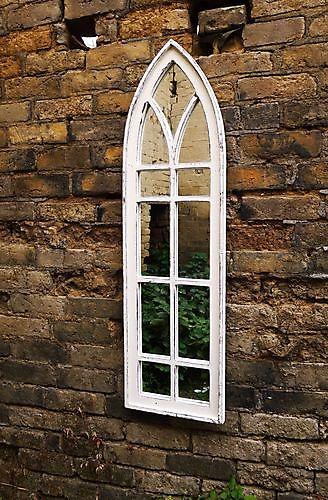 Zaltii gotische spiegel London 142 wit