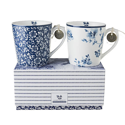 Set van 2 bekers in cadeauverpakking Laura Ashley
