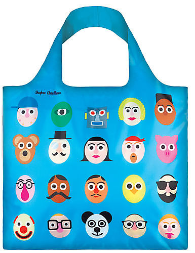 LOQI Bag Stephen Cheetham - Faces