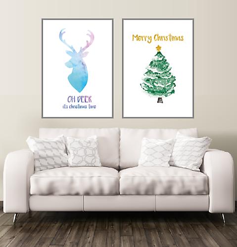 Oh Deer Weihnachts Poster XL 70x100 cm
