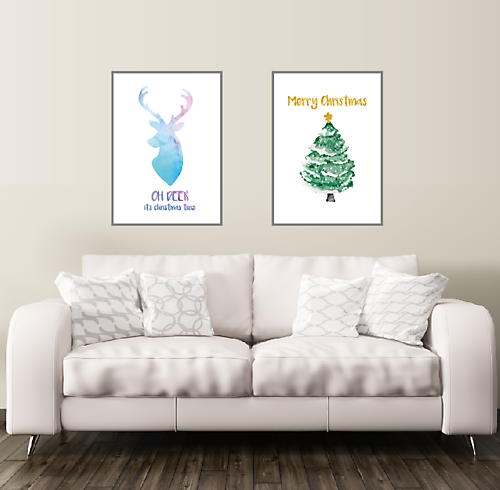 Oh Deer Weihnachts Poster