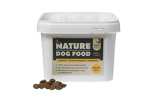 NATURE DOG FOOD KALKOEN EN CRANBERRY 1.4 KG