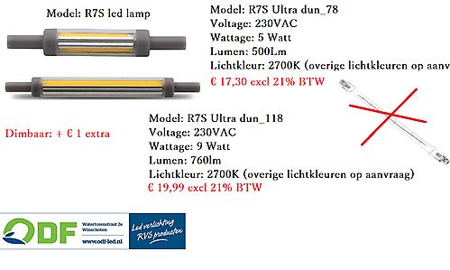 R7S ULTRA DUNNE LED LAMP 2700K