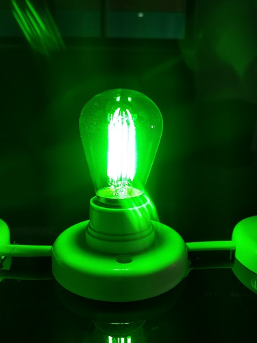 LED Bayonet BA22 Bulb Green