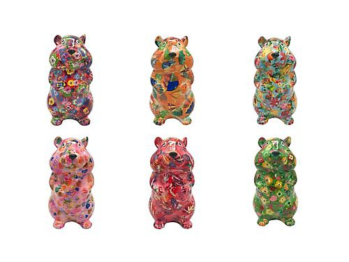 Pomme Pidou - money box - Hamster Finn hearts