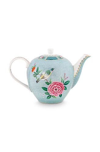 Tea Pot Large Blushing Birds Blue 1.6ltr