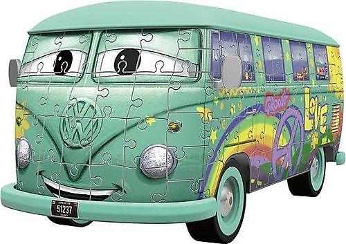 3D puzzel Volkswagen bus T1 Pixar Cars