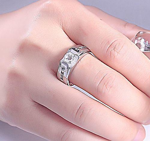 Schitterende Zilveren Ring model 221