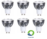 GU10 LED lamp 12-24Volt dimmable. 6 pcs