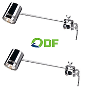 Led Display Light 44 x 6 chrome. set of 2