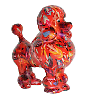 Pomme Pidou - money box - Poodle Paris red