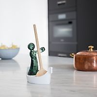 LUIGI cooking spoon holder  white-tr. gray