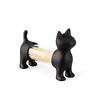 T.pick holder & salt&pepper shaker Cat Black