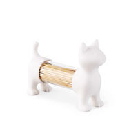 T.pick holder & salt&pepper shaker Cat White