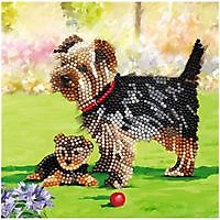 Diamond Painting Crystal Card Hond