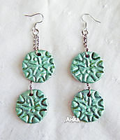Earrings Green Circles