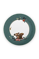 Plate Winter Wonderland Squirrel Green 17cm