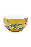 Kom Blushing Birds Yellow 12cm